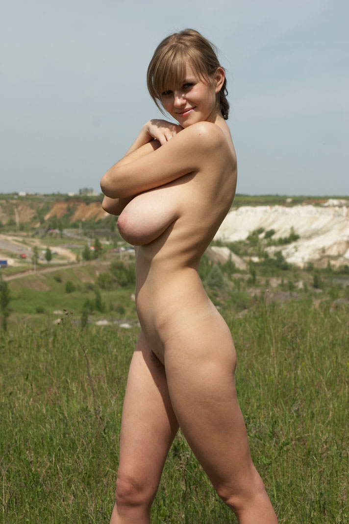 Hairy naked woman